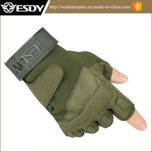 A Caça tático Airsoft Esdy meio dedo verde Exército Luvas
