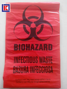 Biohazard는 롤에 Polythene 의학 사용 쓰레기 봉지를 인쇄했다