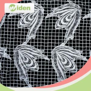 気高い刺繍100%ポリエステル化学レースファブリック