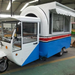 車を販売するための三輪車のファースト・フードのカートの食糧軽食