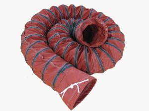 800 grados Celsius en rojo con aislamiento de fibra de vidrio resistente al calor del conducto