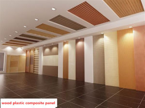 Materiais de decoração de interiores composto de plástico do painel de parede de madeira