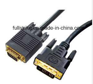DVI (18+1) Male to VGA Male Adapter Cable