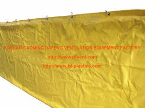 Layflat Typ PVC-überzogener feuerbeständiger Tunnel-Luftkanal