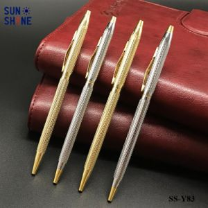 주문 로고 선전용 인쇄된 금속구 펜 호텔 볼펜