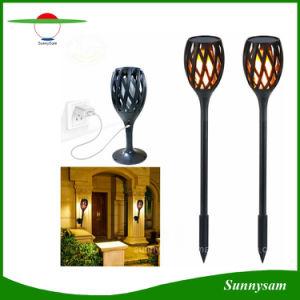 2018 erfinderische im Freien Flamme-Garten-Fackel-Licht-Pfosten-Innensolarlampe des Gebrauch-96 LED flackernde mit der USB Aufladung
