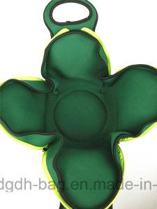 Fleur de sac à lunch Stlyle carré avec poignée pour pique-nique