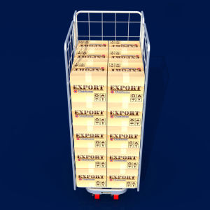 El equipo de almacenamiento de la industria de plegado jaulas de rodillos de almacén