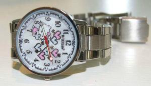 La moda de alta calidad material de silicona resistente al agua reloj Metal