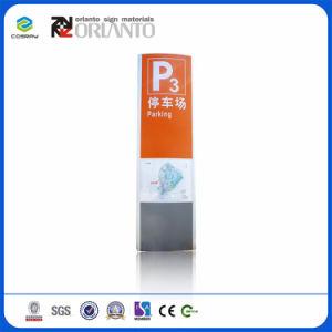 Sinal Pylon lateral duplo de alumínio