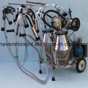 牛搾り出す機械真空ポンプのEletricalの搾乳器2バレル