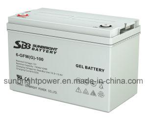 12V100ah Sistema de Energia Solar recarregável Bateria de Armazenamento de gel