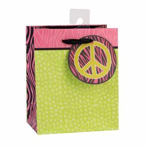 Черно-белый свет зеленый моды арт бумага с покрытием подарок бумажных мешков для пыли