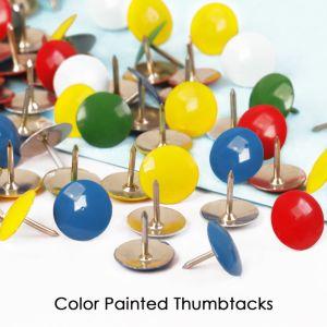 좋은 품질 색깔에 의하여 그려지는 Thumbtacks