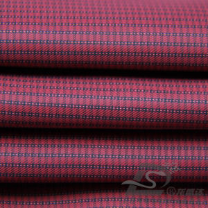 50d 310t tecidos Plaid 100% poliéster Jacquard Pongées Fabric (GC53217Y)