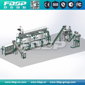 A linha de produção de pelotas de madeira de biomassa de granulados de madeira