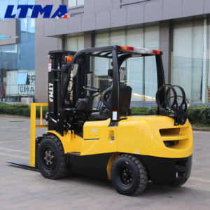 Fabricado en China 3 toneladas de gasolina Carretilla elevadora con precio competitivo