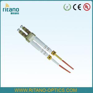 Coleta óptica unimodal de la cinta de fibra del cable del simplex 2.0m m Corning del LC