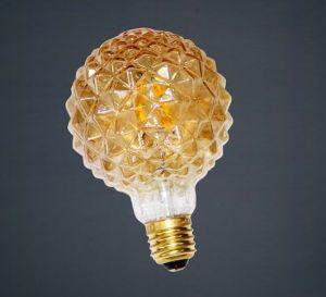 Lâmpada de filamento de lâmpada deformadas