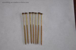 Buen precio Galvanizado amarillo U Tipo de rosca 17 cortar tornillos aglomerado de madera Tornillo de madera