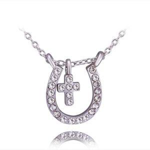 Monili Pendant della collana della traversa dell'oro del diamante dei monili delle donne