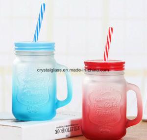 Vasi popolari di vetro bevente con la tazza del tè della bolla della paglia del coperchio