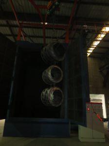 Macchina senza polvere ad uncino di pulizia di granigliatura di Wheelabrator