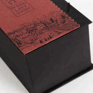 Custom роскошь матовое ламинирование черный гофрированный картон бутылку вина подарочная упаковка бумаги