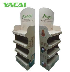 Pappbildschirmanzeige-Schaukasten, freundlichere Papierbildschirmanzeige-Zahnstange, Standplatz zeigend