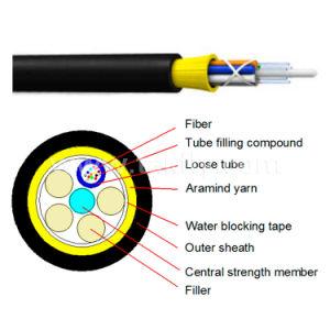 Núcleos de 2-144 ADSS todos os cabos de fibra óptica dielétrico
