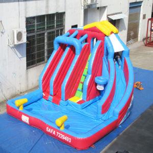 Portable 3 차선 아이 수영장 팽창식 장난감을%s 가진 팽창식 물 미끄럼