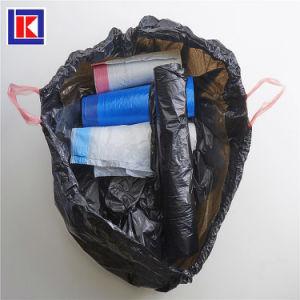13 갤런 신선한 청결한 HDPE 검정 롤 졸라매는 끈 쓰레기 봉지