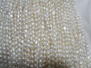 6-7mm White Nugget Hilos de perlas de agua dulce (ES391)