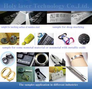 machine colorée d'inscription de laser de la fibre 20W pour l'acier inoxydable