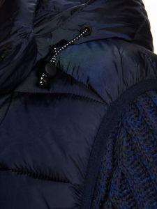 질 바디 온열 장치를 인쇄하는 남성 스포츠 재킷 두건이 있는 겨울 조끼