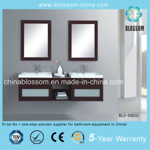 Luxux-MDF-Badezimmer-Möbel-an der Wand befestigter Badezimmer-Eitelkeits-Schrank (BLS-NA032)