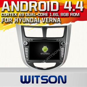 Automobile DVD del sistema del Android 4.4 di Witson per Hyundai Solaris