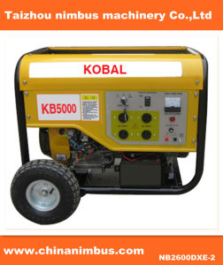 Wheels를 가진 2.5kw 100%Copper Wire Kobal Gasoline Generator Set