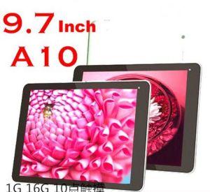 Zoll A10 des Android-4.0 des Lebkuchen-9.7 Tablette PC CPU-1.2GHz 3G mit WiFi Kamera-der kapazitiven 10 Punkt-Note