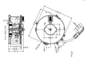 Carrete de cable retráctil tipo compacto 0824