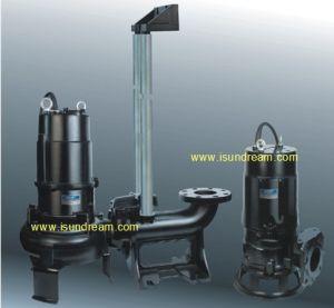 Submersível Auto-Stirring Eléctrico vertical da bomba de água de esgoto/Submersíveis Cortador de esgoto/triturador/Bomba do agitador com trilho de guia e Acoplamento Automático