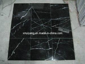 Mattonelle di marmo nere di nero marquina per la pavimentazione e