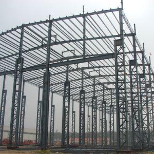 El bastidor de acero estructural de la luz para la construcción del taller