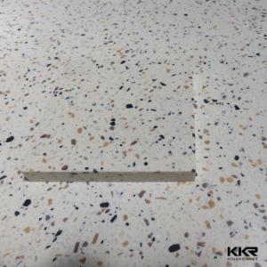 Kingkonree Baignoire Douche acrylique Surround Surface solide de bord