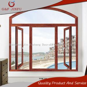Американский стиль Деревянные зерна передача тепла алюминиевая дверная рама перемещена Windows