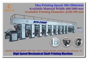 High Speed Computerized Automatic Roto Printing Engraving Close with Shaft Drive (DLYA-81000F)