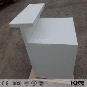 Acrylique blanc moderne Surface solide comptoir de réception de l'hôtel