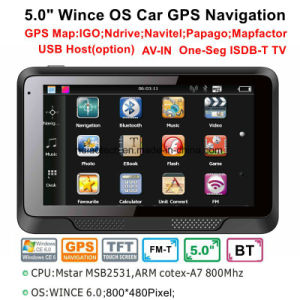 Wince OEM 5.0 Carro elevador Marine navegação GPS com transmissor de FM, AV-na câmara traseira, sistema de navegação GPS portátil,Bluetooth para telefone móvel,TV,Rastreador TMC