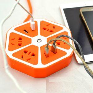 intelligenter Streifen-multi Aufsatz-Extensions-Kontaktbuchse der Energien-250V mit 4 Anschluss 4 USB