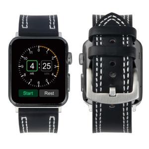 アダプターが付いているAppleの時計バンドのための22mmの本革バンド